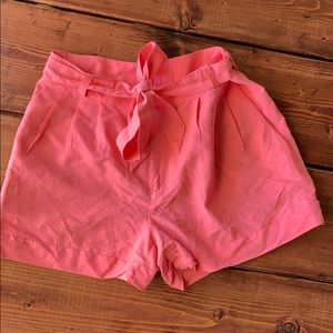 H&M Pink shorts with tie front bow